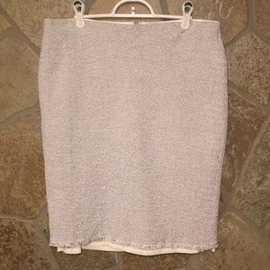 Ann Taylor fringed pencil skirt. Size 14
